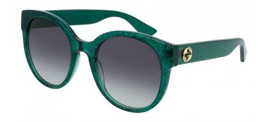 Gucci GG0035S GLITTER GREEN/GREY SHADED