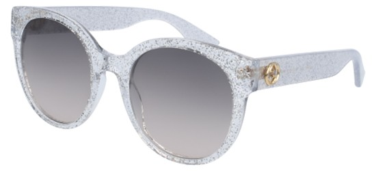 Gucci GG0035S GLITTER SILVER/BROWN SHADED