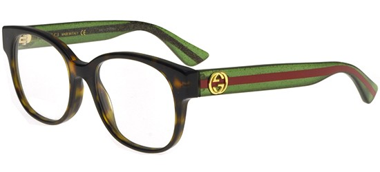 Gucci GG0040O HAVANA STRIPED GREEN