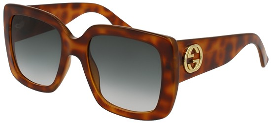Gucci GG0141S HAVANA/GREY GREEN SHADED