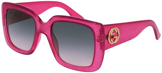 Gucci GG0141S GLITTER PINK/GREY SHADED