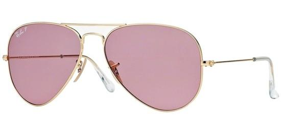 Ray-Ban Ray-Ban AVIATOR LARGE METAL RB 3025 SHINY GOLD/PINK POLARIZED