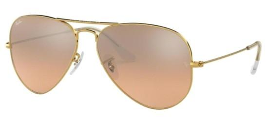 Ray-Ban AVIATOR LARGE METAL RB 3025 GOLD/PINK SILVER MIRROR SHADED