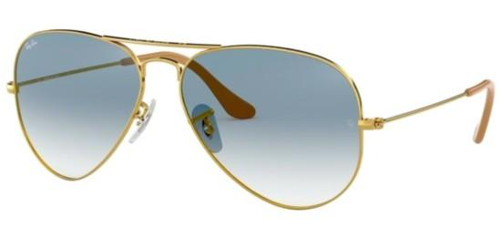 Ray-Ban Ray-Ban AVIATOR LARGE METAL RB 3025 GOLD/BLUE SHADED