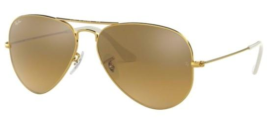 Ray-Ban Ray-Ban AVIATOR LARGE METAL RB 3025 GOLD/BROWN SILVER MIRROR SHADED