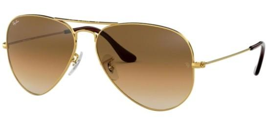 Ray-Ban Ray-Ban AVIATOR LARGE METAL RB 3025 GOLD/BROWN SHADED