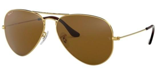 Ray-Ban AVIATOR LARGE METAL RB 3025 GOLD/BROWN POLARIZED