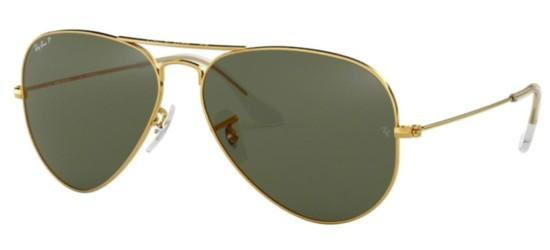 Ray-Ban AVIATOR LARGE METAL RB 3025 GOLD/GREY GREEN POLARIZED