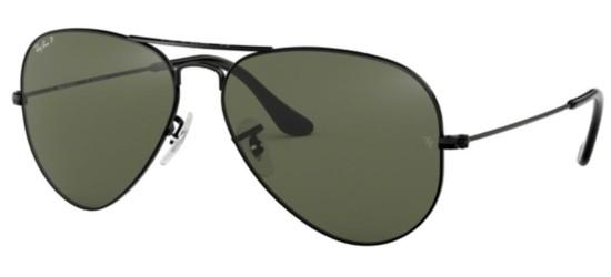 Ray-Ban Ray-Ban AVIATOR LARGE METAL RB 3025 BLACK/GREY GREEN POLARIZED