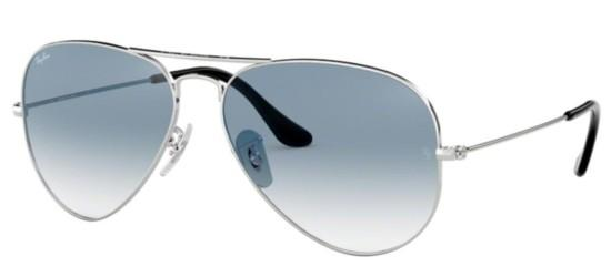Ray-Ban Ray-Ban AVIATOR LARGE METAL RB 3025 SILVER/LIGHT BLUE SHADED