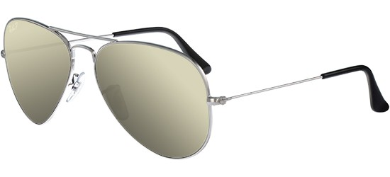 Ray-Ban Ray-Ban AVIATOR LARGE METAL RB 3025 SILVER/GREY SILVER MIRROR POLARIZED