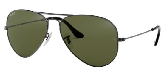 Ray-Ban Ray-Ban AVIATOR LARGE METAL RB 3025 RUTHENIUM/GREY GREEN POLARIZED