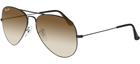Ray-Ban AVIATOR LARGE METAL RB 3025 DARK BROWN/BROWN SHADED