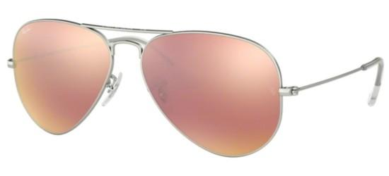 Ray-Ban AVIATOR LARGE METAL RB 3025 SILVER/CRYSTAL BROWN PINK MIRROR