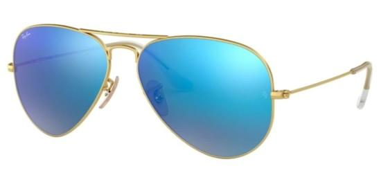 Ray-Ban AVIATOR LARGE METAL RB 3025 GOLD/GREY BLUE MIRROR