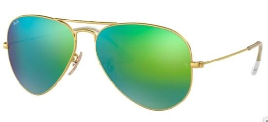 Ray-Ban Ray-Ban AVIATOR LARGE METAL RB 3025 GOLD/GREEN SHADED BLUE MIRROR