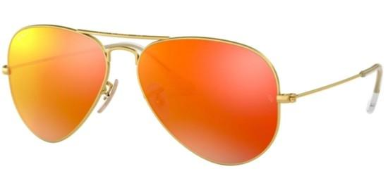 Ray-Ban AVIATOR LARGE METAL RB 3025 GOLD/BROWN RED MULTILAYER POLARIZED