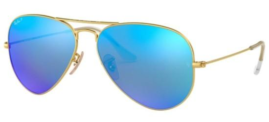 Ray-Ban Ray-Ban AVIATOR LARGE METAL RB 3025 GOLD/BLUE MIRROR POLARIZED