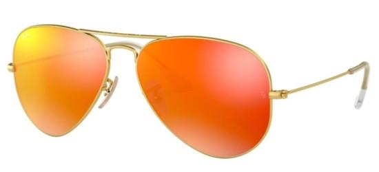 Ray-Ban Ray-Ban AVIATOR LARGE METAL RB 3025 GOLD/BROWN ORANGE GOLD MIRROR