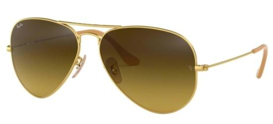 Ray-Ban Ray-Ban AVIATOR LARGE METAL RB 3025 MATTE GOLD/BROWN GOLD SHADED