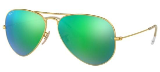 Ray-Ban Ray-Ban AVIATOR LARGE METAL RB 3025 GOLD/GREEN MIRROR POLARIZED