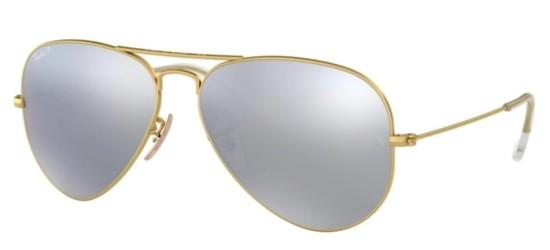 Ray-Ban AVIATOR LARGE METAL RB 3025 MATTE GOLD/DARK GREY POLARIZED
