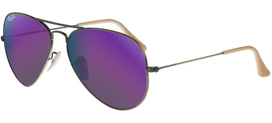 Ray-Ban AVIATOR LARGE METAL RB 3025 BRUSHED BRONZE/GREY PURPLE MIRROR