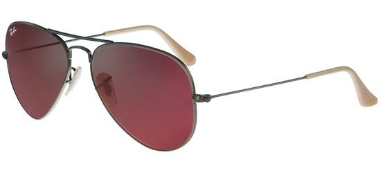 Ray-Ban Ray-Ban AVIATOR LARGE METAL RB 3025 BRUSHED BRONZE/GREY RED MIRROR