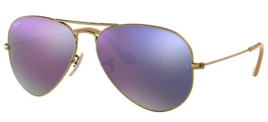 Ray-Ban AVIATOR LARGE METAL RB 3025 BRUSHED BRONZE/GREY LILAC MIRROR