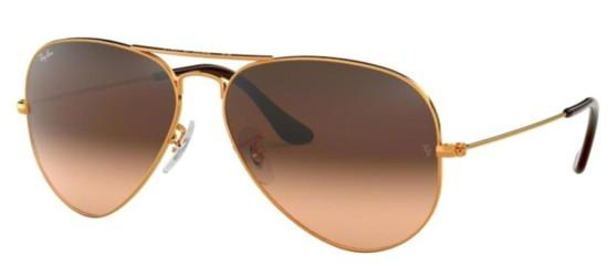 Ray-Ban AVIATOR LARGE METAL RB 3025 COPPER/BROWN SHADED