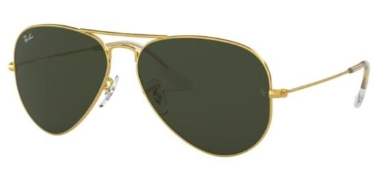 Ray-Ban AVIATOR LARGE METAL RB 3025 GOLD/GREY GREEN