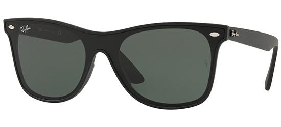 Ray-Ban BLAZE WAYFARER RB 4440N MATTE BLACK/GREY GREEN