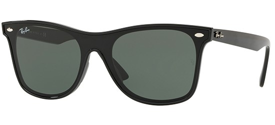 Ray-Ban BLAZE WAYFARER RB 4440N BLACK/G-15 CLASSIC GREEN
