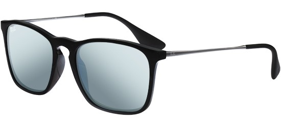 Ray-Ban CHRIS RB 4187 BLACK/BLUE SILVER MIRROR