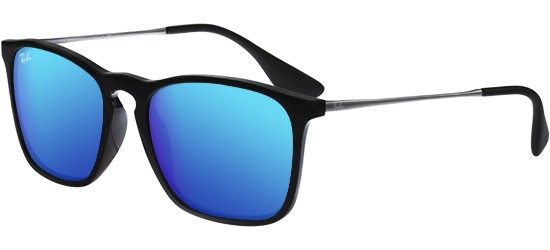 Ray-Ban CHRIS RB 4187 BLACK/BLUE MIRROR