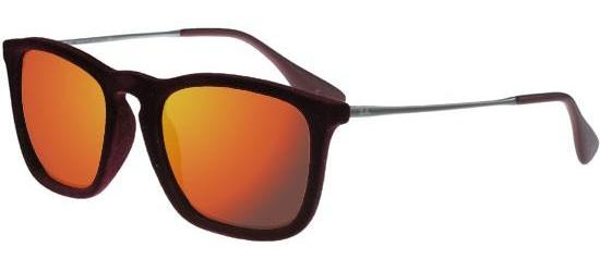 Ray-Ban CHRIS RB 4187 RED VELVET/GREY RED MIRROR