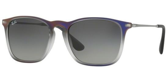Ray-Ban CHRIS RB 4187 IRIDESCENT VIOLET GREY SHADED/GREY SHADED