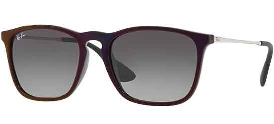 Ray-Ban CHRIS RB 4187 BLACK RED MIRROR/DARK GREY SHADED