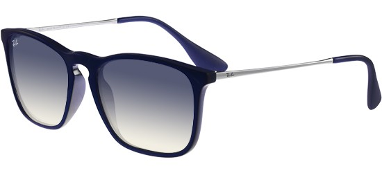 Ray-Ban CHRIS RB 4187 SHINY BLUE/LIGHT BLUE SHADED