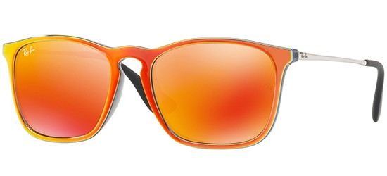 Ray-Ban CHRIS RB 4187 ORANGE MIRROR/BROWN ORANGE