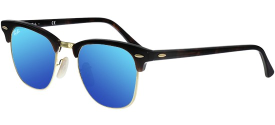 Ray-Ban CLUBMASTER RB 3016 HAVANA/CRYSTAL GREY BLUE MIRROR