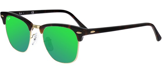 Ray-Ban CLUBMASTER RB 3016 HAVANA/CRYSTAL GREY GREEN MIRROR