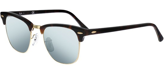 Ray-Ban CLUBMASTER RB 3016 HAVANA/CRYSTAL LIGHT SILVER MIRROR