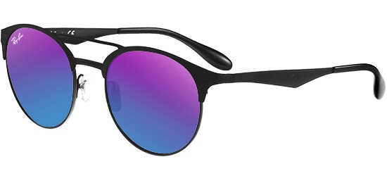 a17de940bfa Ray-Ban DOUBLE BRIDGE RB 3545 BLACK PURPLE BLUE SHADED