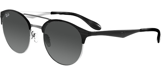 d56e4183ea7 Ray-Ban DOUBLE BRIDGE RB 3545 BLACK SILVER GREY SHADED