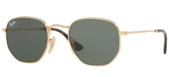 Ray-Ban HEXAGONAL METAL RB 3548N GOLD/G-15 CLASSIC GREEN