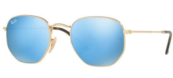 Ray-Ban HEXAGONAL METAL RB 3548N GOLD/BLUE