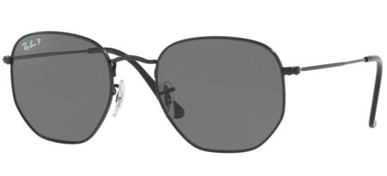 Ray-Ban HEXAGONAL METAL RB 3548N BLACK/G-15 CLASSIC GREEN