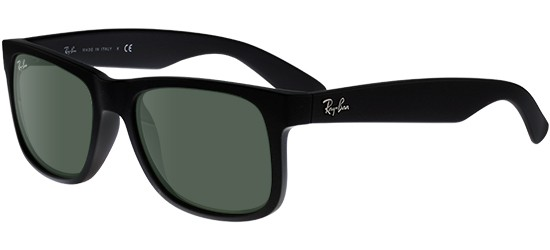 Ray-Ban JUSTIN RB 4165 BLACK/G-15 CLASSIC GREEN