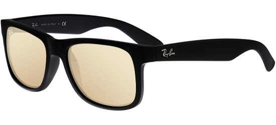 Ray-Ban JUSTIN RB 4165 BLACK RUBBER/LIGHT GOLD